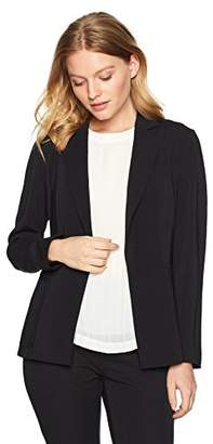 Ellen Tracy Women's Petite Patch Pocket Blazer