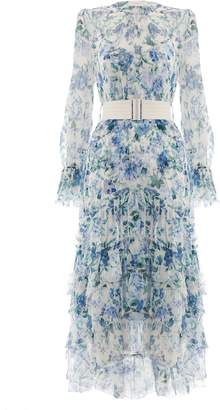 Zimmermann Moncur Chevron Frill Dress