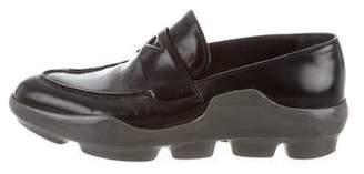 Prada Pointed-Toe Platform Loafers