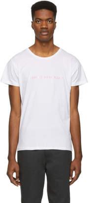 Nasaseasons White I Came To Break Hearts T-Shirt