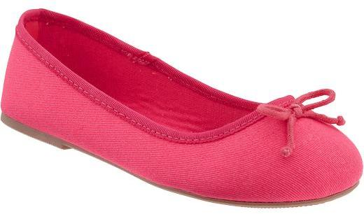 Old Navy Girls Bow-Tie Canvas Ballet Flats