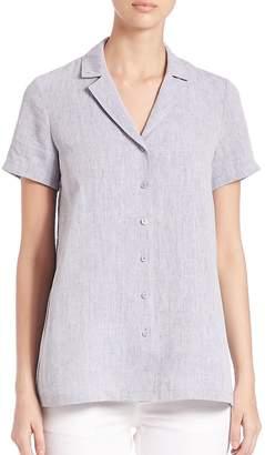 Lafayette 148 New York Women's Paula Short-Sleeve Linen Blouse