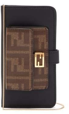Fendi Baguette Iphone X Case Cross Body Bag - Womens - Black Multi