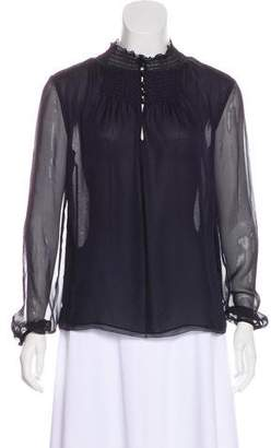Diane von Furstenberg Silk Long Sleeve Blouse w/ Tags