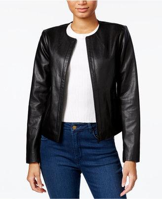 Armani Exchange Faux-Leather Moto Jacket $190 thestylecure.com