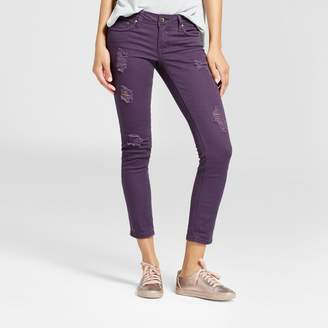 Dollhouse Women's Slit Knee Crop Skinny Jeans - Dollhouse (Juniors') - Eggplant $29.99 thestylecure.com