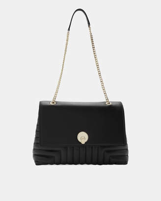 Ted Baker SOFIIEE Circle lock quilted leather shoulder bag