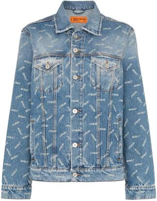 Heron Preston CTNMB-print denim jacket