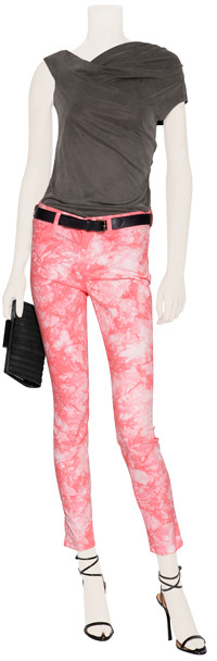 J Brand Jeans Twisted Coral Mid Rise Skinny Pants