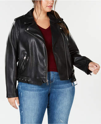 Levi's Faux-Leather Belted Moto Jacket