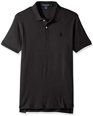 U.S. Polo Assn. Men's Slim Fit Solid Short Sleeve Interlock Polo Shirt