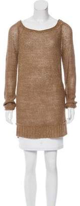 Donna Karan Linen Long Sleeve Sweater