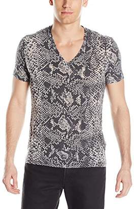 Just Cavalli Men's Snake V Neck T-Shirt