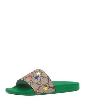 Gucci Pursuit Printed Ranch Slide Sandals, Toddler/Kids
