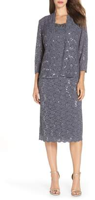 Alex Evenings Sequin Lace Dress & Jacket