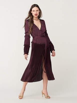 Diane von Furstenberg Keira Pleated Midi Dress
