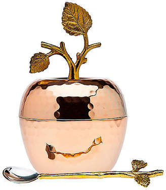 One Kings Lane Asst. of 2 Leaf Sugar Pot with Spoon - Copper