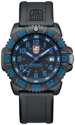 Luminox 44mm Navy SEAL 3050 Series Colormark Watch, Blue $395 thestylecure.com