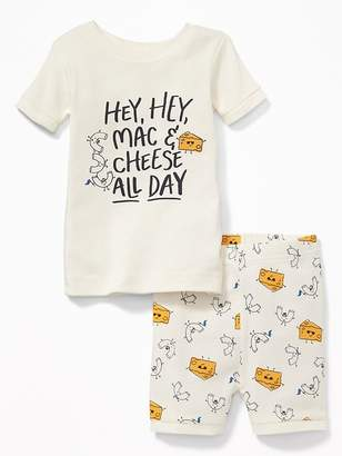 """Old Navy """"Hey, Hey, Mac & Cheese All Day"""" Sleep Set for Toddler & Baby"""