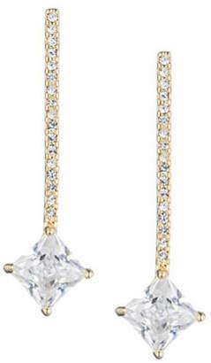 Lauren Ralph Lauren Pave Crystal Bar Drop Earrings