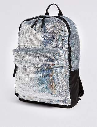 Marks and Spencer Kidsâ Sparkle Sequin Backpack