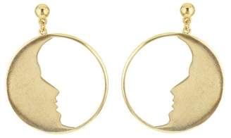Oscar de la Renta Small Moon Hoops Earrings