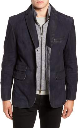 FLYNT Zip Insert Leather Blazer