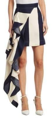 Calvin Klein Draped Asymmetric Silk Skirt