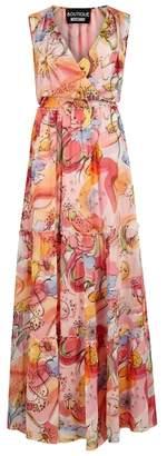 Moschino Fantasy-print Silk Chiffon Maxi Dress