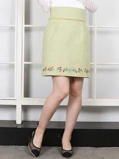 dazzlin (ダズリン) - 【sw】フラワーヘム刺繍ミニスカート