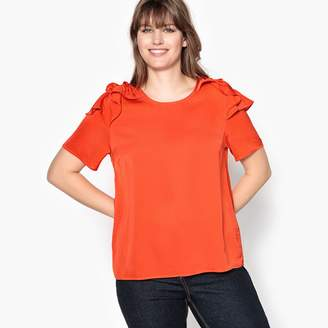 CASTALUNA PLUS SIZE Blouse with Ruffled Shoulders