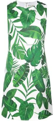 Alice + Olivia Alice+Olivia leaves print dress