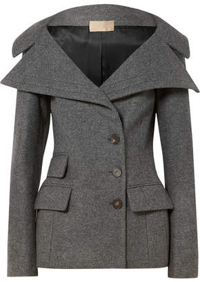 Antonio Berardi Wool-blend Felt Jacket - Gray