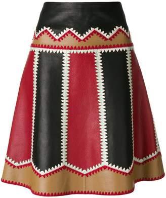 RED Valentino panelled mini skirt