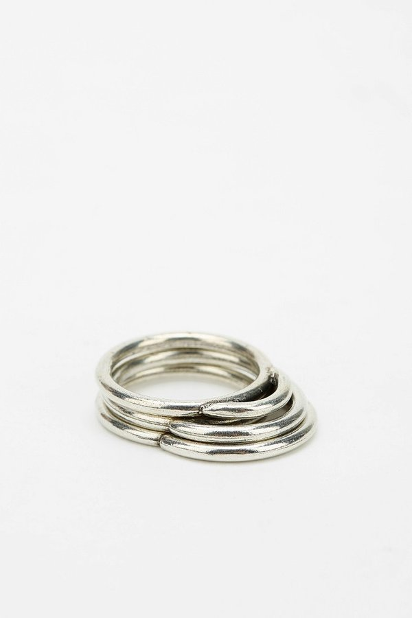 Urban Outfitters The 2 Bandits Circle Games Ring - Set Of 3