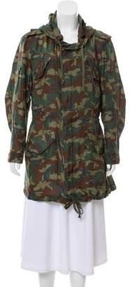 Faith Connexion Silk Camouflage Print Jacket