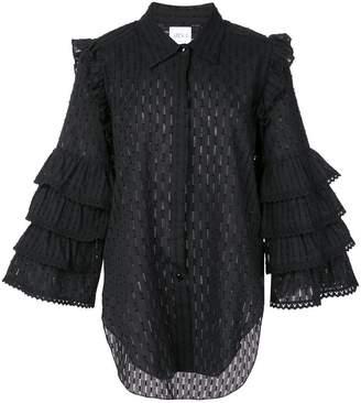 MISA Los Angeles Juana ruffle sleeves shirt
