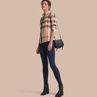 Burberry Lace Trim Check Cotton Shirt $350 thestylecure.com