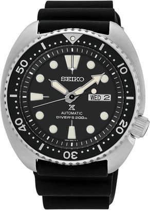 Seiko Men's Automatic Prospex Diver Black Silicone Strap Watch 45mm SRP777 $495 thestylecure.com