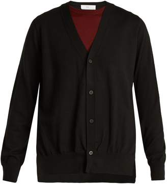 Toga Layered V-neck wool cardigan