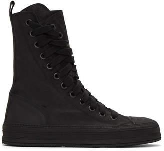 Ann Demeulemeester Black Nubuck High-Top Sneakers