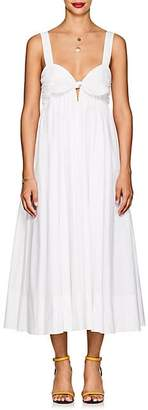 A.L.C. Women's Iris Cotton Knotted Maxi Dress - White Size 10