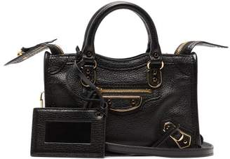 9f58e38f4ce2 Balenciaga Classic City Nano Leather Bag - Womens - Black