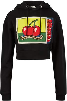 Fiorucci Matchbox cropped hooded sweatshirt