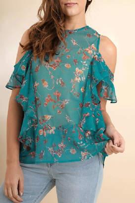 Umgee USA Sheer Floral Top