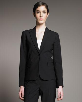 Theory Gabe Black Long-Sleeve Jacket