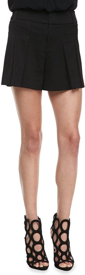Alice + Olivia High-Waist Butterfly Shorts