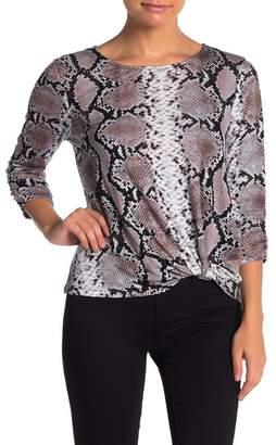Como Vintage Side Twist 3/4 Sleeve T-Shirt (Petite)