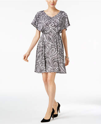 Ny Collection Flutter-Sleeve A-Line Dress $50 thestylecure.com