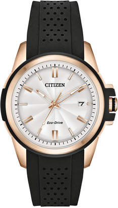 Citizen Drive From Eco-Drive Women's Black Silicone Strap Watch 38mm